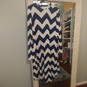 Chevron swing dress
